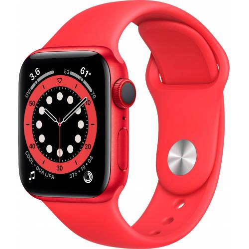 Apple Series 6, OLED, Touchscreen, 32 GB, WLAN, GPS Watch (Watch OS 6), rot   RED/Rot