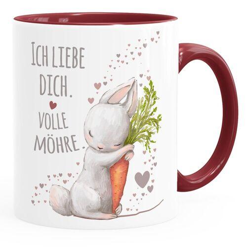 MoonWorks Tasse »Kaffee-Tasse Ich liebe dich volle Möhre Hase mit Karotte Geschenk Liebe Liebeserklärung ®«