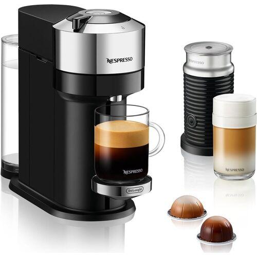 Nespresso Kapselmaschine ENV 120.CAE Vertuo Next inkl. Aeroccino Milchaufschäumer, chrom