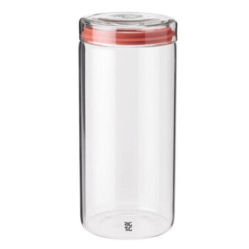 Stelton Aufbewahrungsbox »RIG-TIG Aufbewahrungsglas STORE-IT 1.5 l«, Glas, Silikon