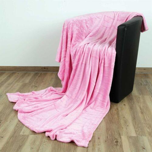 """Bestlivings Wohndecke, , Kuscheldecke """"Celina"""" - Rosa - 70x100 cm (BxL) - hochwertige Flauschige Kuschel Decke in vielen Farben und Größen, Rosa"""