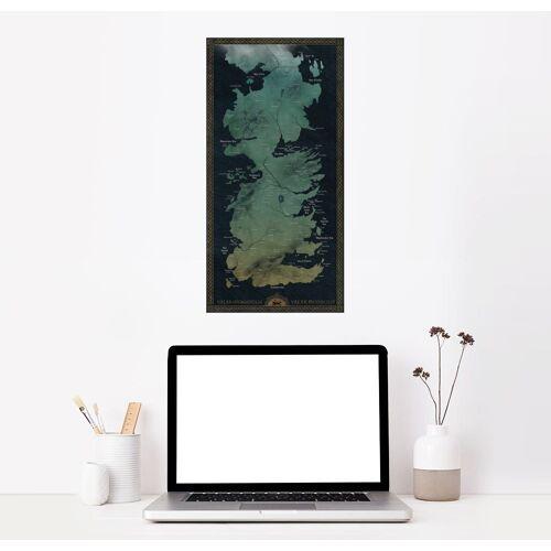 Posterlounge Wandbild, Karte von Westeros (englisch)