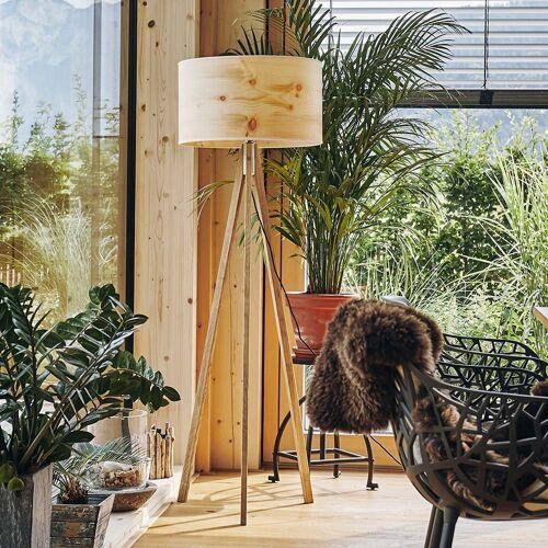 LeuchtNatur Stehlampe »Ligno 150cm Holzfuß Zirbe«