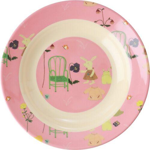rice Schale »Esslernschale Häschen, Melamine, grün«, rosa