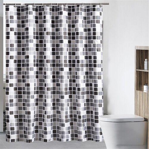 i@home Duschvorhang »Kariert Stile Badvorhang Duschabtrennung Vorhang Badezimmer Vorhänge Wannenvorhang« Breite 180 cm, Mit Ringe