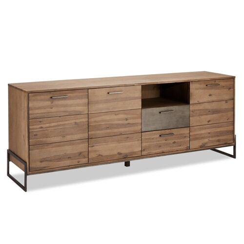 ebuy24 Sideboard »Maro Sideboard 3 Türen, 2 Schubladen, 1 offene Abl«