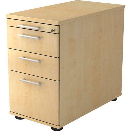 bümö Container »OM-SC40« mit Schloss & Hängeregistratur - Schreibtisch Bürocontainer, Standcontainer fürs Büro - Dekor: Ahorn, Ahorn