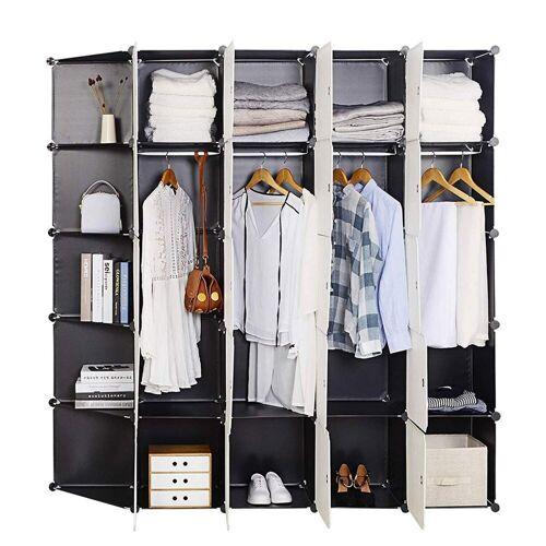 Woltu Kleiderschrank Super Größ & Praktisch Kleiderschrank Mit 2 Kleiderstange aus Kunststoff bei