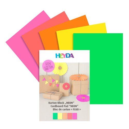 Heyda Papierkarton »Kreativ-Block Neon«, A4 10 Blatt