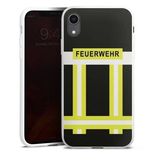 DeinDesign Handyhülle »Feuerwehr« Apple iPhone Xr, Hülle Feuerwehr Feuerwehrmann Beruf, weiß