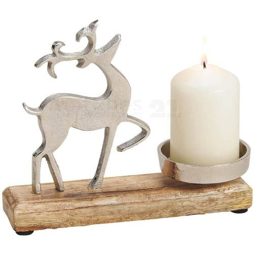 matches21 HOME & HOBBY Kerzenhalter »Rentier Kerzenhalter Deko Weihnachten«