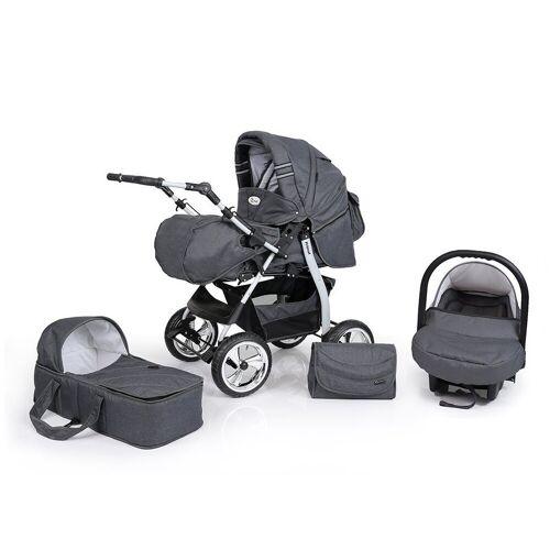 Clamaro Sport-Kinderwagen, Primal Kombikinderwagen, Baby 3in1 sofort lieferbar in vielen Farben , 67. Anthrazit