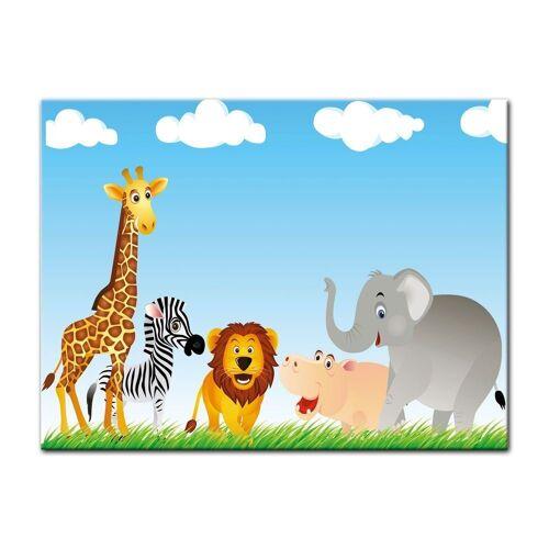 Bilderdepot24 Leinwandbild, Leinwandbild - Kinderbild - Tiere Cartoon VI