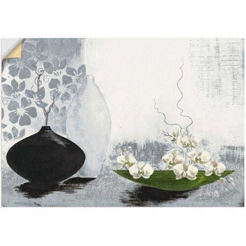 Artland Wandbild »Modernes bauchiges Gefäß mit Orchideen«, Vasen & Töpfe (1 Stück)