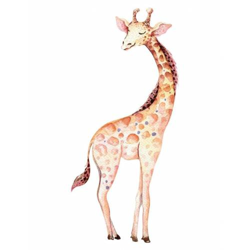 dekodino Wandtattoo »Aquarell Giraffe« (1 Stück)