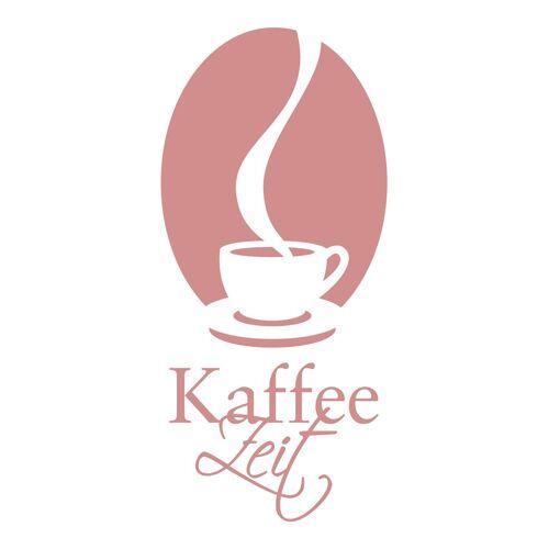 dekodino Wandtattoo »Kaffeezeit mit Kaffeetasse« (1 Stück), 73 - old rose