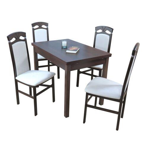 moebel-direkt-online Sitzgruppe »Dora«, (Spar-Set, 5-tlg), ein Esstisch mit Stühlen