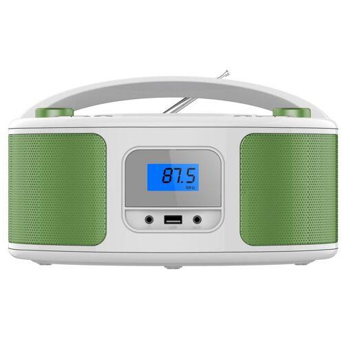 Cyberlux »CL-330« tragbarer CD-Player (CD-Player, Tragbarer CD-Player, FM Radio mit MP3 USB)