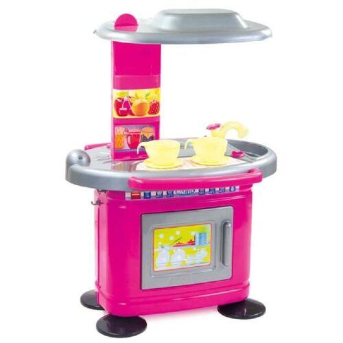 Mochtoys Spielküche »Kinderküche 67 cm 11085« Kunststoff, in rosa mit Spülbecken und Backofen zum Öffnen