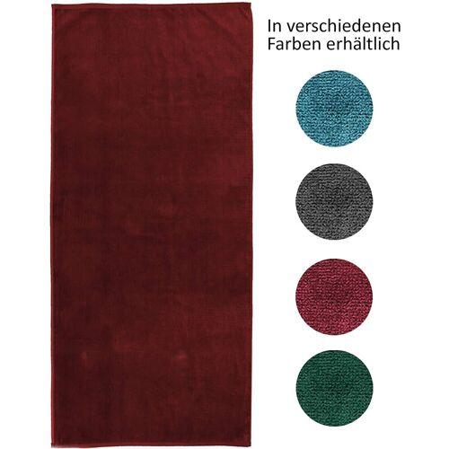 jilda-tex Strandtuch (1-St), mit 100% Bio-Baumwolle, Rot