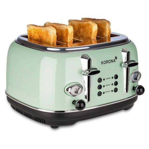 KORONA Toaster 21676, 4 Scheiben, Mint, Röstgrad- Anzeige