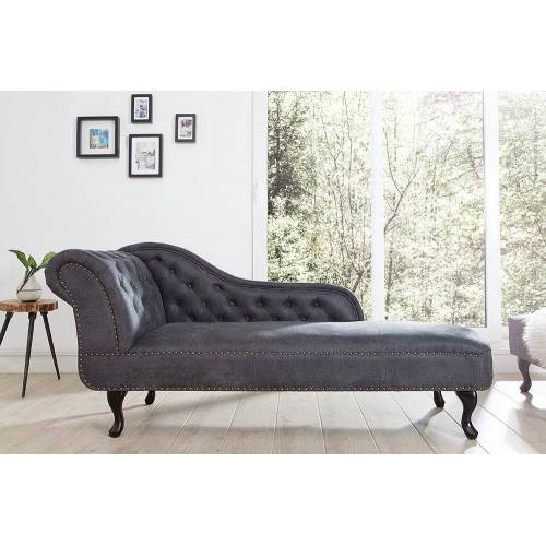 riess-ambiente Recamiere »CHESTERFIELD 170cm antik grau«, im Chesterfield Design
