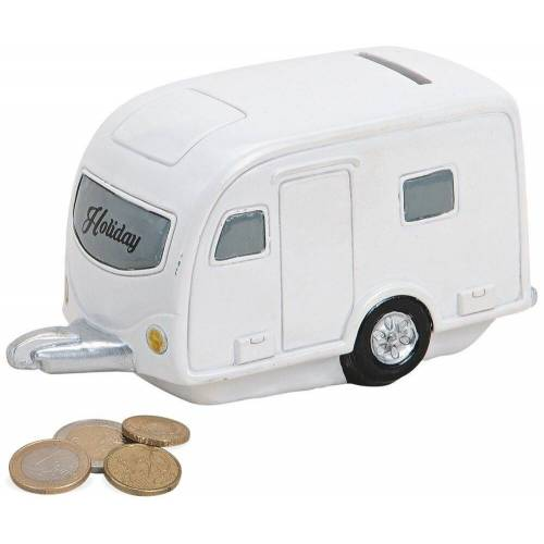 matches21 HOME & HOBBY Spardose »Spardose Wohnwagen Camping Anhänger Poly«