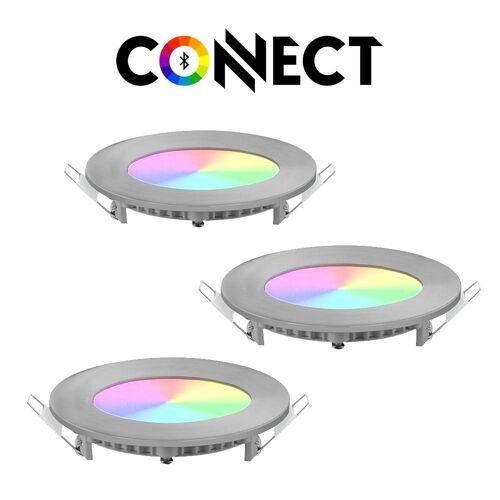 Connect LED Einbaustrahler »LED 3er-Set Einbaustrahler 1080lm RGB+CCT«