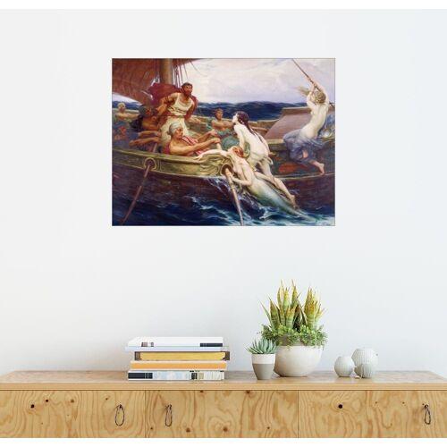Posterlounge Wandbild, Odysseus und die Sirenen