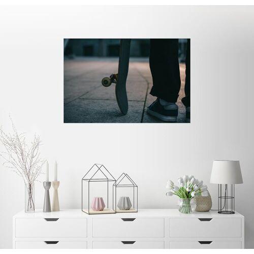 Posterlounge Wandbild, Skater und sein Board