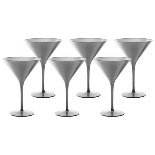 Stölzle Gläser-Set »ELEMENTS Cocktailschale Silber 6er Set« (6-tlg)