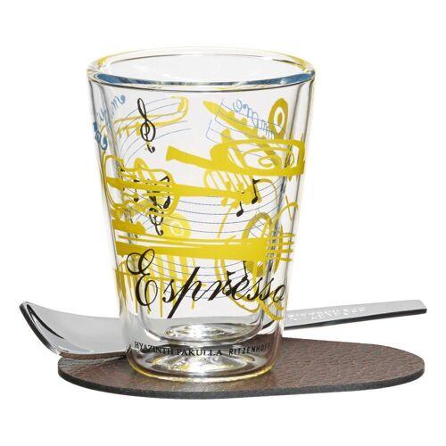 Ritzenhoff Espressoglas »A Cuppa Day Schriftnote Hyazinth Pakulla 80 ml«