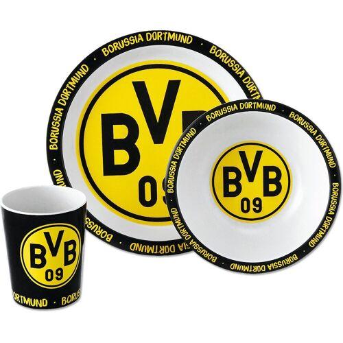Borussia Dortmund Kindergeschirr-Set »BVB-Bambus-Geschirr-Set (3er Set)«