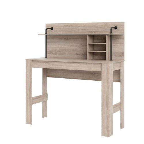 ebuy24 Schreibtisch »Fula Schreibtisch 1 grosse Ablage und 2 kleine Abl«