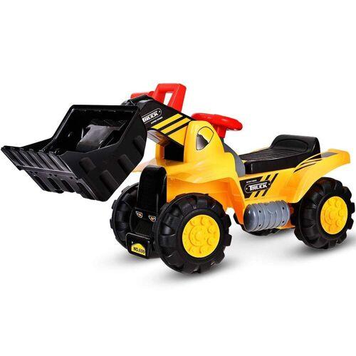 COSTWAY Spielzeug-Aufsitzbagger, Schaufelbagger Sandbagger
