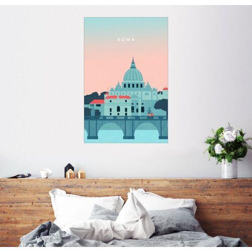 Posterlounge Wandbild, Rom Illustration