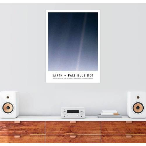 Posterlounge Wandbild, Earth - Pale Blue Dot