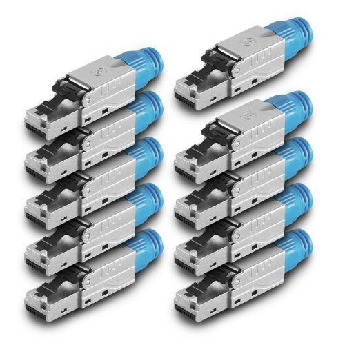 ARLI »Netzwerkstecker« Netzwerk-Adapter RJ45, 10x Netzwerkstecker RJ45 Stecker CAT8.1 geschirmt Werkzeuglose Montage Werkzeugfrei