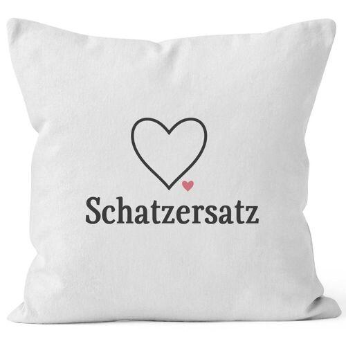 MoonWorks Dekokissen »Kissen-Bezug Schatzersatz Schatz Ersatz Valentinstag Liebe Geschenk Kissen-Hülle Deko-Kissen Baumwolle ®«