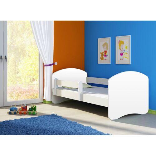 Clamaro Kinderbett (Kinderbett Fantasia, weiss mit farbigem Seitenteil, Kinder, Bett, mit oder ohne Schublade), 01 Weiß