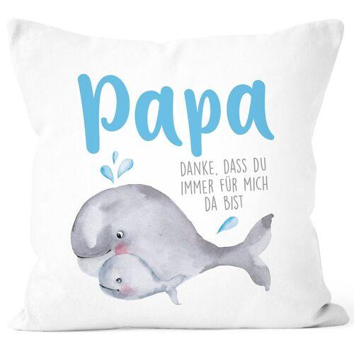 SpecialMe Dekokissen »Kissen-Bezug Danke dass du immer für mich da bist Geschenk für Mama Papa Muttertag Vatertag ®«