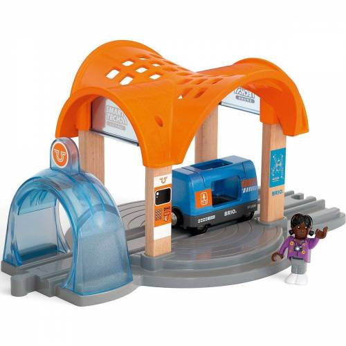 Brio Spielzeug-Eisenbahn »Smart Tech Sound Bahnhof mit Action Tunnel«