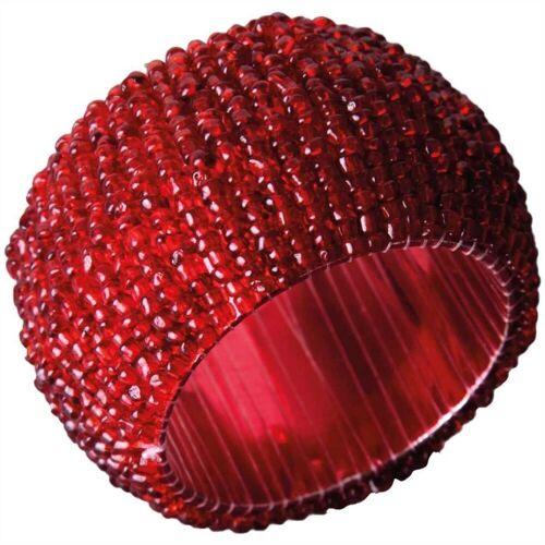 Bestlivings Serviettenring, Glasperlen, (1-tlg), Serviettenring, Handarbeit, Glasperlenring, Rot