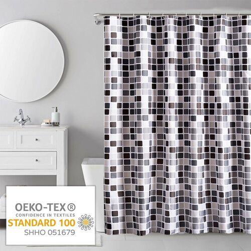 i@home Duschvorhang »mehrere Stile Wannenvorhang Badvorhang Duschabtrennung Badezimmer Vorhänge« Breite 180 cm, Mit Ringe, Mosaik