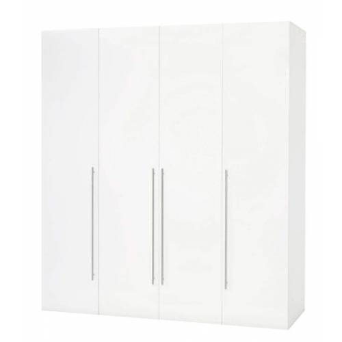 ebuy24 Kleiderschrank »Saskia Kleiderschrank 4 Türen. Weiss und weiss Hoc«