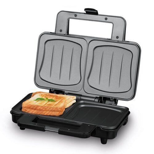 MAXXMEE Sandwichmaker, 900 W, XXL Edelstahl/Schwarz