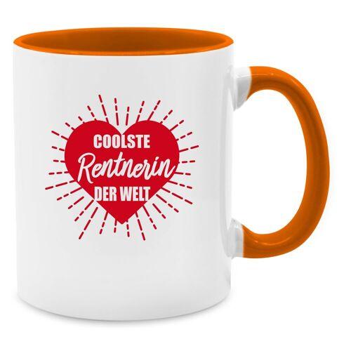 Shirtracer Tasse »Coolste Rentnerin der Welt - Tasse zweifarbig - Tassen«, Tasse Berufe, 10 Orange