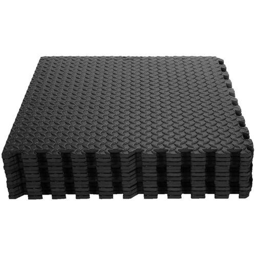 COSTWAY Bodenschutzmatte »Bodenschutzmatte«, 12 STK. Schutzmatte aus Eva Matte für Bodenschutz, Schwarz