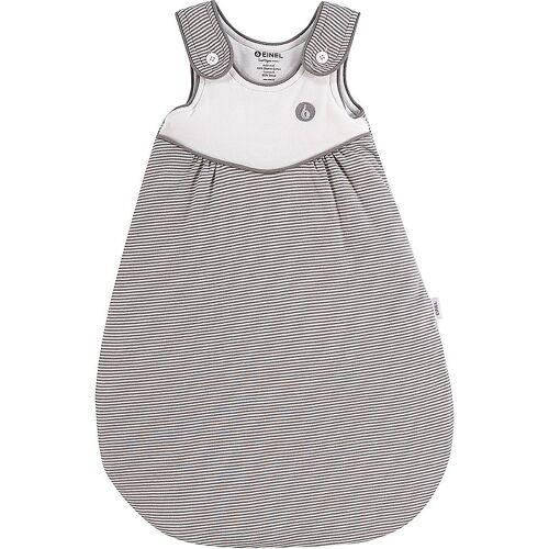 Einel Babyschlafsack »Außenschlafsack Pumi, Gr. 80/86, Rose Melangestr«, grau-kombi