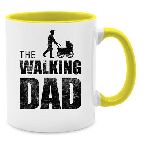 Shirtracer Tasse »The Walking Dad - Tasse zweifarbig - Tassen«, Vatertagsgeschenk, 09 Gelb
